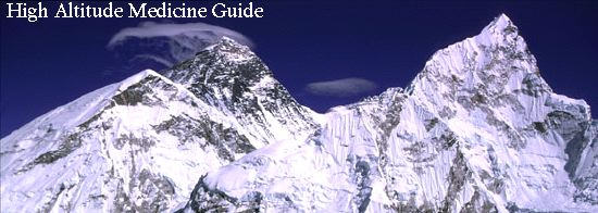 High Altitude Medicine Guide banner (Everest and Nuptse)